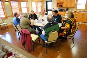 Facilitating a story workshop at the Territory Tellers Winter Retreat